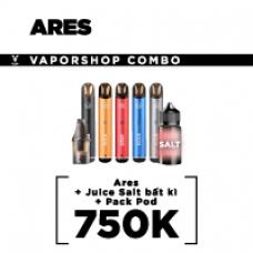 COMBO ARES + JUICE SALT BẤT KÌ + PACK POD